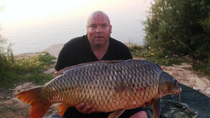 Karp 28,5 kg z rzeki Ebro