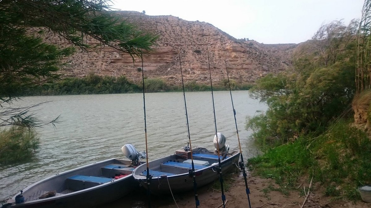Przygotowanie miejscówki sumowej na rzece Ebro