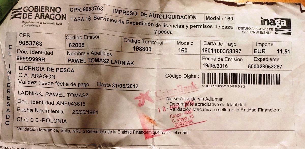 Licencja wędkarska na połów w Rio Ebro